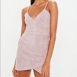 MISSGUIDED faux suede mini dress